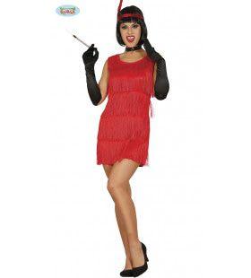 Hot Red Charleston Vrouw Kostuum