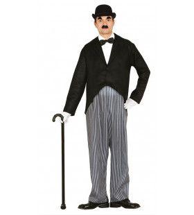 Charlie Chaplin De Komiek Man Kostuum