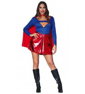 Sterk Staaltje Supervrouw Kostuum