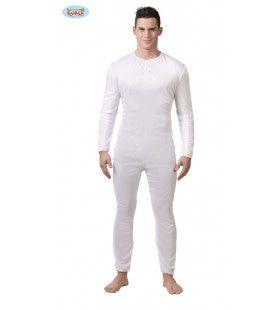 Ouderwets Wit Ondergoed Ballet Man Kostuum