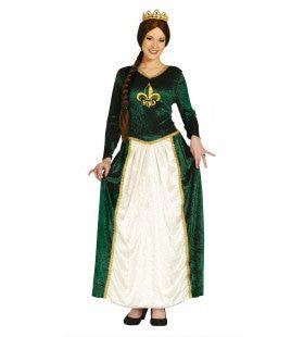 Groene Jurk Prinses Fiona Koningin Uit De Middeleeuwen Vrouw