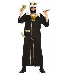 Koeweit Olie Sjeik Zwart Man Kostuum