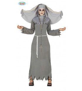 Duivelse Grijze Non Vrouw Kostuum