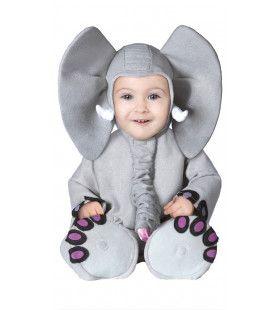 Snoezige Olifant Baby Kostuum