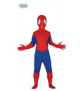 Stoere Blauwe Spinnenheld Jongen Kostuum