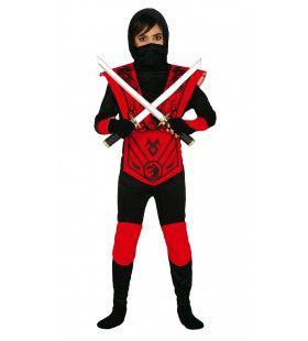 Scherp Zwaard Ninja Jongen Kostuum