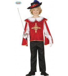 Scherm Kampioen Musketier Jongen Kostuum