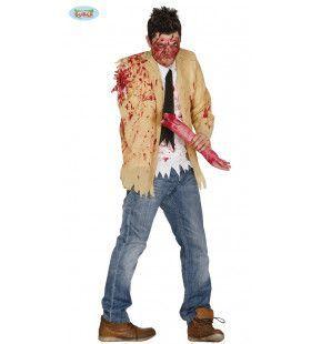 Vers Uit De Gehaktmolen Zombie Man Kostuum