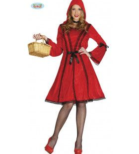 Elegant Roodkapje Vrouw Kostuum
