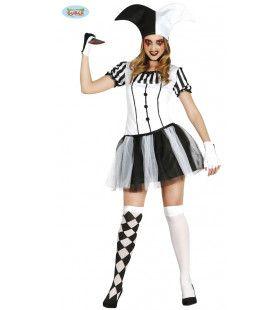 Halloween Harlekijn Vrouw Kostuum