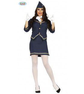 Hanna Hoogtepunt Stewardess Vrouw Kostuum
