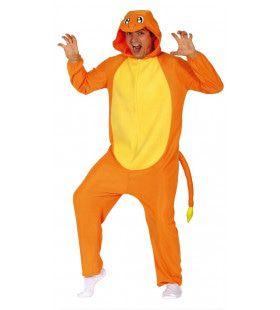 Oranje Draak Jumpsuit Kostuum