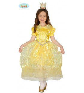 Prinses Uit Een Sprookje Jurk Geel Meisje