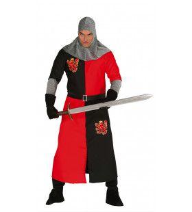 Woeste Middeleeuwse Ridder Man Kostuum