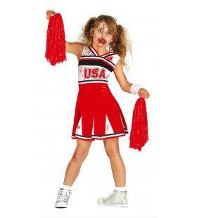 Zombie Cheerleader USA Meisje Kostuum
