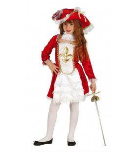 Madame Musketier Meisje Kostuum