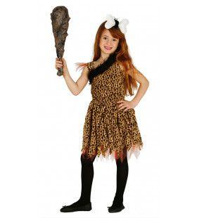 Neanderthaler Meisje Kostuum
