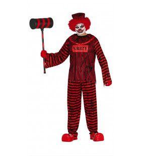 Zwaar Gestoorde Clown Man Kostuum