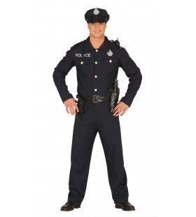 Pientere Politie Agent Man Kostuum