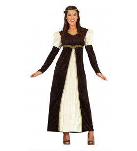 Knappe Middeleeuwse Kasteeldame Vrouw Kostuum