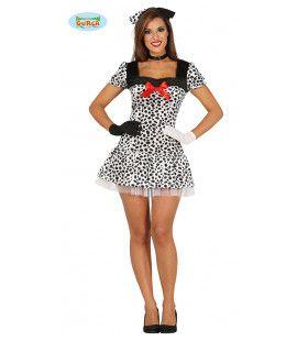 Dartele Dalmatier Vrouw Kostuum