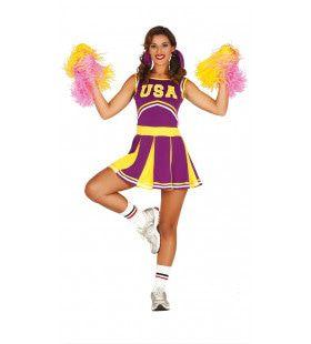 Hilda Huppel Cheerleader Vrouw Kostuum