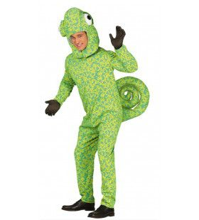 Groene Kameleon Man Kostuum