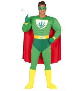 Marijuana Superheld Man Kostuum