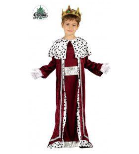 Drie Koningen Rood Fluweel Jongen Kostuum