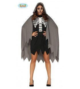 Skelet Met Mantel Vrouw Kostuum