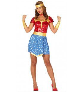 Wonderlijk Sterke Superheldin Vrouw Kostuum