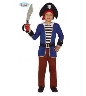 Duinkerker Kaper Noordzee Piraat Jongen Kostuum