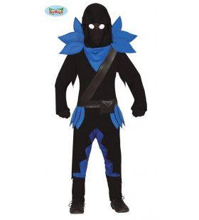 Duistere Computerspel Samoerai Jongen Kostuum