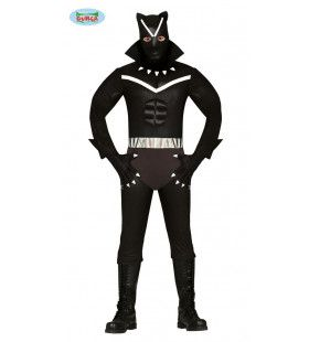 Stil Sluipende Zwarte Panter Ninja Superheld Man Kostuum