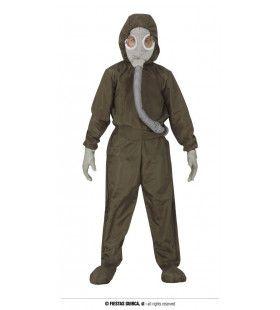 Kernenergie Nucleair Beschermpak Kind Kostuum
