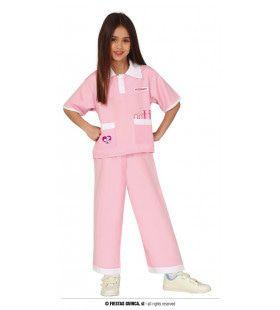 Roze Dierenarts Meisje Kostuum