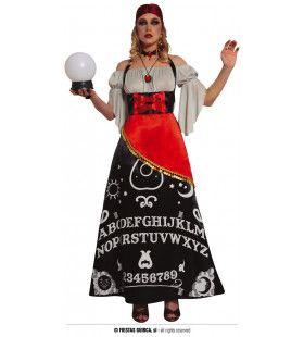 Praatje Maken Met Geesten Ouija Bord Vrouw Kostuum