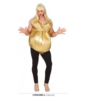Volslanke Gouden Popster Diva Man Kostuum