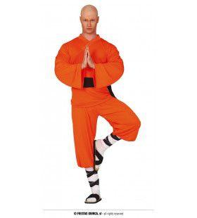 Martial Art Shaolin Monnik Man Kostuum