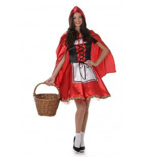 Glanzend Zondags Roodkapje Vrouw Kostuum