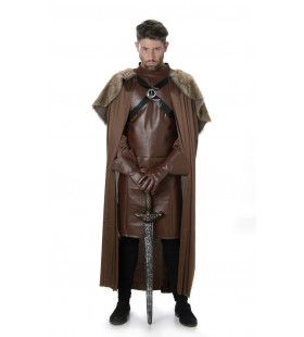 Middeleeuwse Ridder Somber Duister Slot Man Kostuum