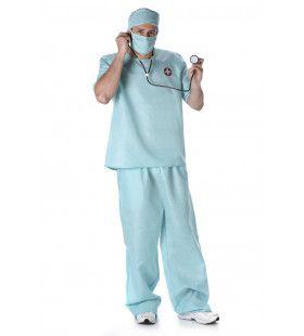 Chirurg Coschappen Universitair Ziekenhuis Man Kostuum
