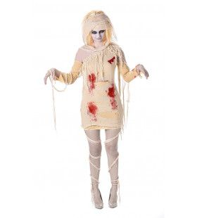 Afgewikkelde Mummie Zombie Vrouw Kostuum