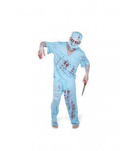 Zombie Chirurg Dokter Bloedplaat Kostuum