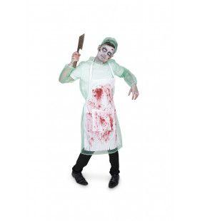 Patholoog Anatoom Lijkensnijder Zombie Kostuum