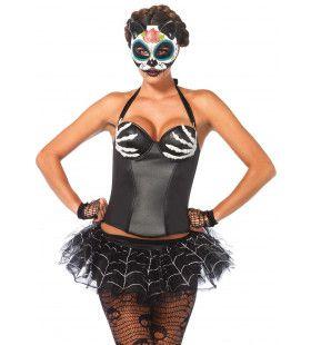 Halter Halloween Korset Met Bothanden Vrouw