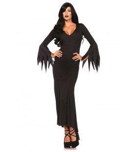 Lange Sexy Gothic Jurk Vrouw