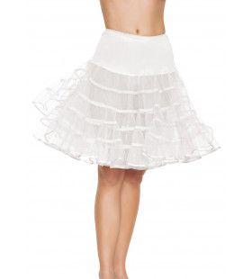Medium Lange Petticoat Wit