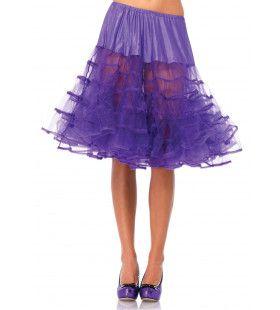 Medium Lange Petticoat Paars