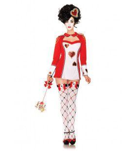 Spannende Speelkaart Dames Kostuum Vrouw